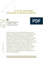 Estevez - El Enfoque de Las Coaliciones Defensoras en Políticas Públicas