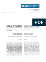 El uso de e-rúbricas para la evaluación de competencias en estudiantes universitarios. Estudio sobre fiabilidad del instrumento. The use of e-rubrics for competence assessment in university students. Study on reliability of the instrument.