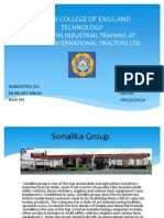 ppt on sonalika engine assembly