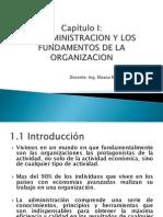 Capítulo i Fundamentos de La Organizacion