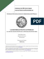 Estevez - Las Reformas Politicas Posibles - CIAP 23.05.2005