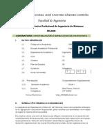 Silabo Organizacion y Direccion de Personas2014 _i Fis