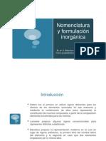 Nomenclatura compuestos inorgánicos