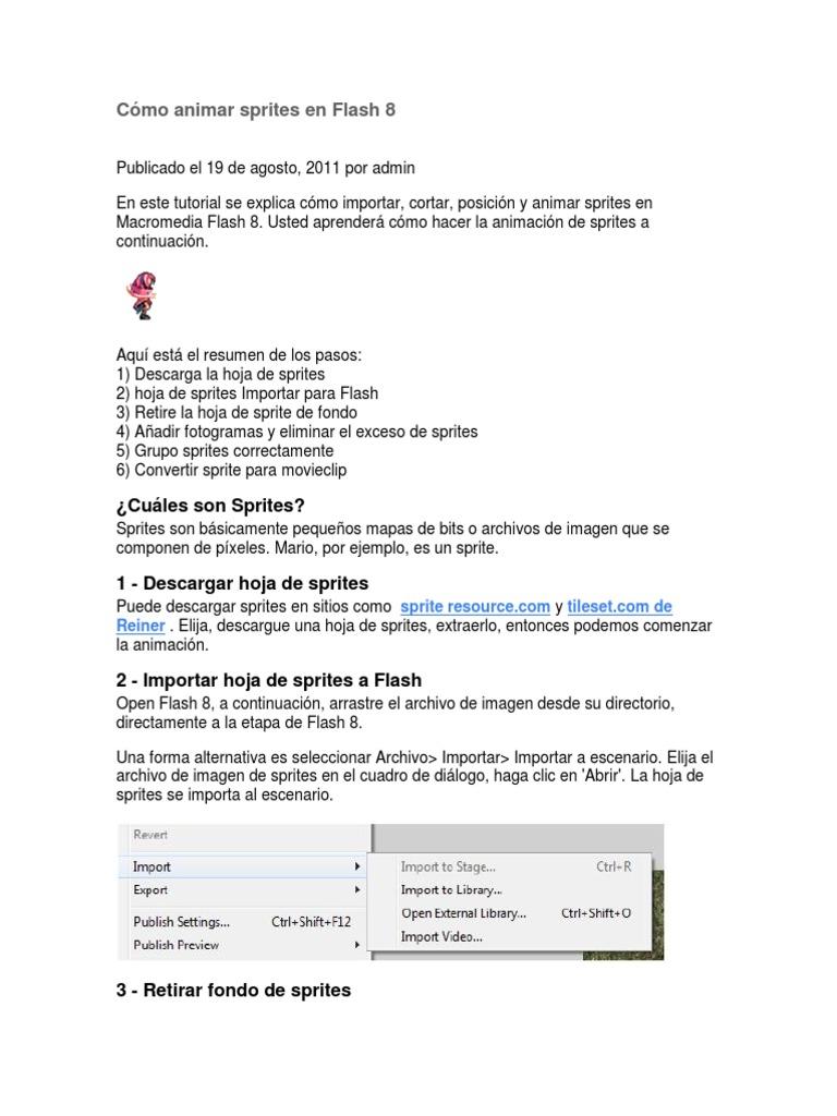 Cómo animar sprites en Flash 8.docx