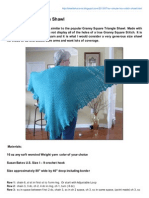 So Simple Box Stitch Shawl By Ideal Delusions