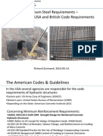 Minimum Steel Requirements Comparison USA & UK 2014-05-14 Swiss Dam Conference