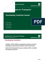 Transport Issues in Developing Countries