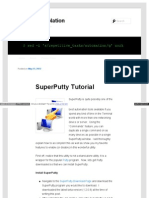 Superputty Tutorial
