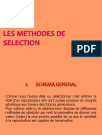 Les Methodes de Selection