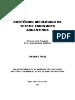 Contenido Ideológico de Los Textos Escolares
