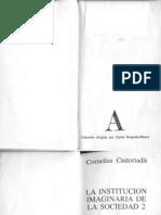 Castoriadis Cornelius La Institución Imaginaria de La Sociedad