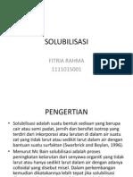 SOLUBILISASI