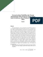 Internasionalisasi Pendidikan dan Strategi Pengembangan Mutu Perguruan Tinggi Agama Islam di Indonesia