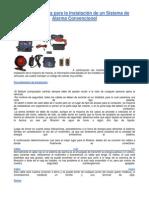 Procedimientos Para La Instalación de Un Sistema de Alarma Convencional