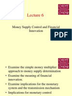 Money Supply Control And Financial Innovation