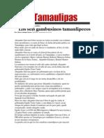 22-05-2014 Hoy Tamaulipas - Los seis gambusinos tamaulipecos.