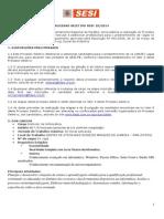 Processo Seletivo SESI 102014