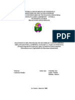 Diagnostico Del Programa de Seguridad y Salud Laboral Implantado Por La Empresa Agequip s.a. Para Su Personal