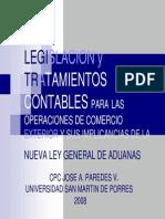 Legislacion y Tratamiento Contable Para Las Operaciones de Comercio Exterior