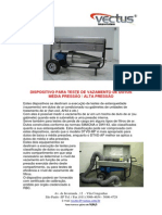 Maquina Teste Estanqueidade Dutos Modelo Dtvd Mp Portugues