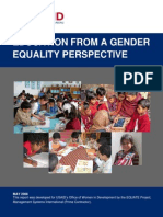 education from a gender equality perspective