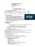 Reumatologie VI Programa Analitica