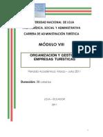 Módulo 8 Organización y Gestión de Empresas Turísticas1