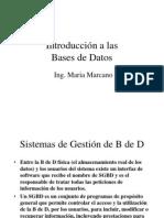 Bases de Datos I