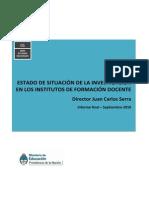 Estado de Situación de La Investigación en Los Institutos de Formación Docente(1)