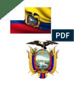 Bandera y Escudo Del Ecuador