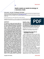Gasification of plastic waste as waste-to-energy or waste-to-syngas recovery route
