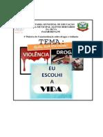 Banner Palestra - Drogas e Violência