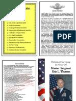 MSgt Thorson Retirement Brochure