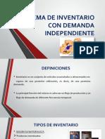 Sistema de Inventario Con Demanda Independiente