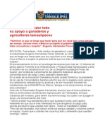 com0383, 071005 Reitera Eugenio Hernández su compromiso con ganaderos y agricultures tamaulipecos.