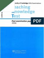 TKT Past Paper 2006