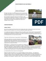 Departamentos de Guatemala Traje Tipico