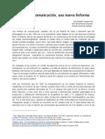 Una Nueva Reforma a Los Medios de Comunicación Investigación Documental 11feb2014 (1)