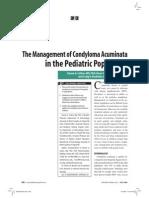Management of Condyloma Acuminata