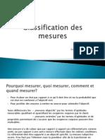 Classification Des Mesures
