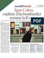 Portrait de Philippe Cohen - Tribune de Genève - 31.10.09