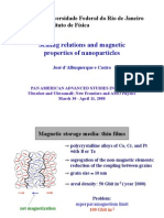 Scaling relations and magnetic properties of nanoparticles