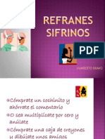 REFRANES SIFRINOS