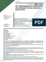 NBR 14545 - Solo - Determinacao Do Coeficiente de Permeabilidade de Solos Argilosos a Carga Varia