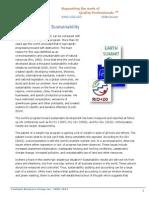 Progress toward Sustainability