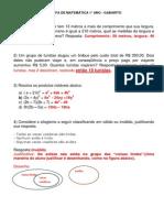 Tarefa de Matemática 1 Gabarito