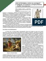 Que Es La Felicidad - Cinismo y Epicureísmo 2014