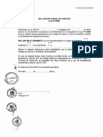 Declaracion Jurada de Habilidad (Ley 29566)