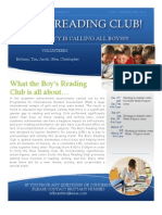 Boys Reading Club Flyer