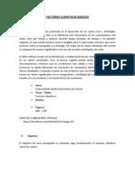 FACTORES CLIMATICOS BASICOS